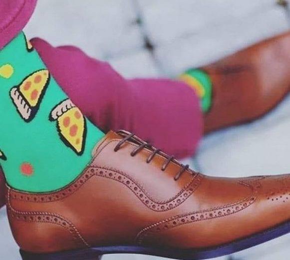 A moda das meias fantasia