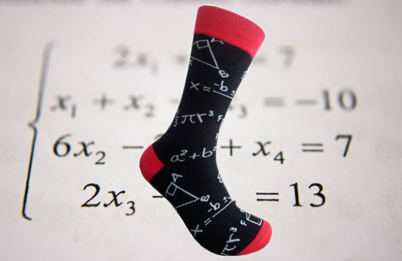 meias fantasia teorema de pitagoras matematica